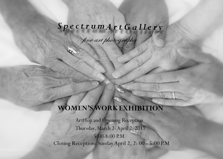 Spectrum flyer for Women's Work Exhibition