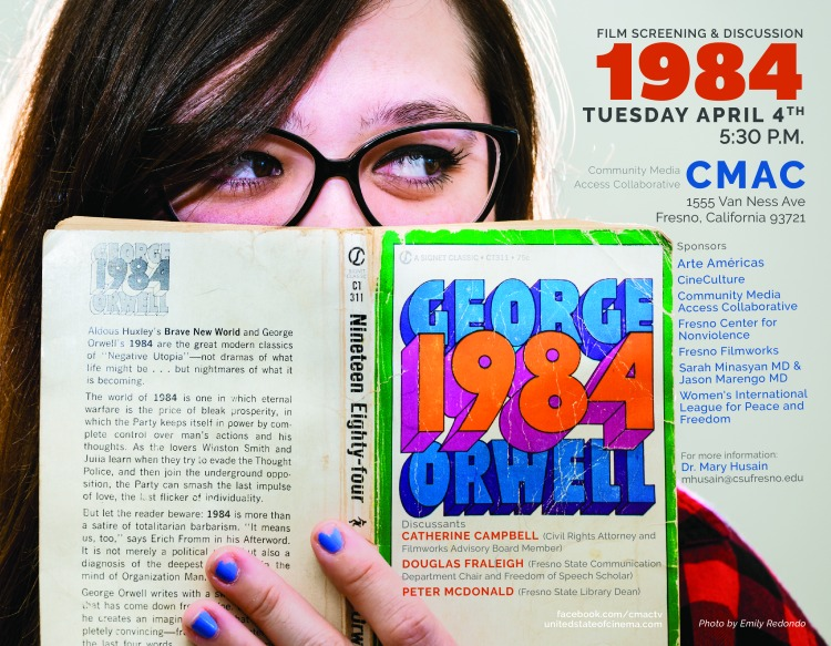 Flyer for screening of 1984
