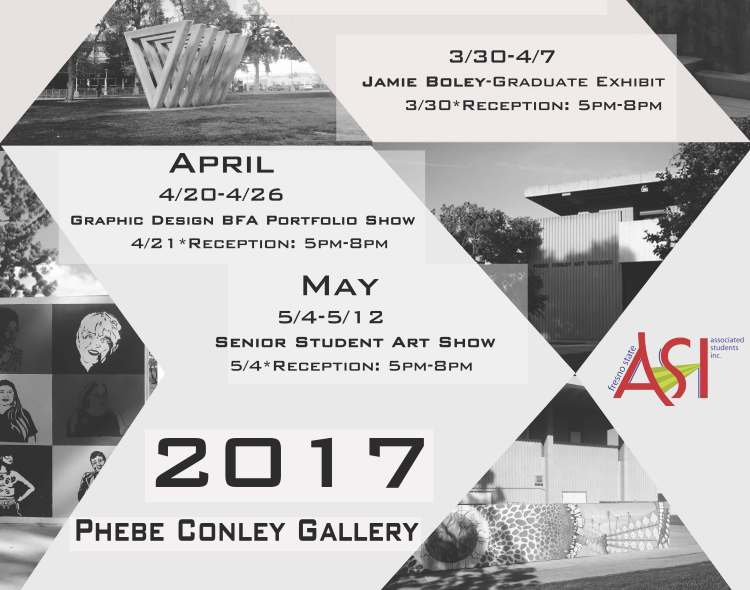 Flyer for Art exhibitions
