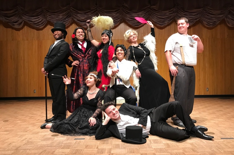Photo of cast for Die Fledermaus opera