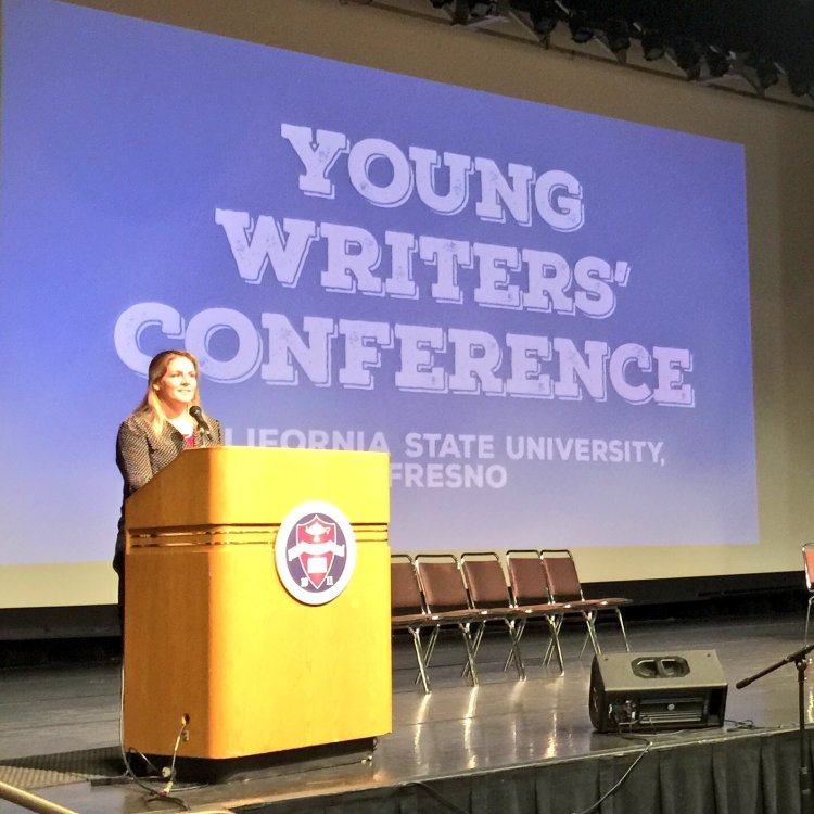 Kristin FitzPatrick speaking at 2017 Young Writers' Conference