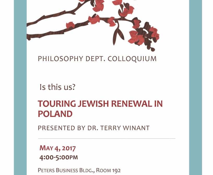 Flyer for philosophy colloquium