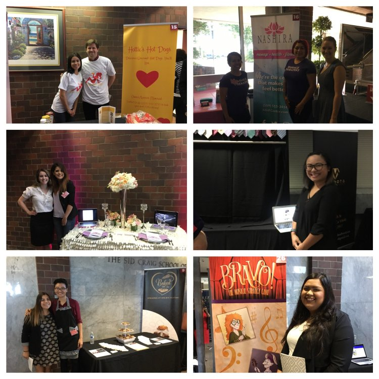 Collage of public relations and business students at the Entrepreneurship Expo