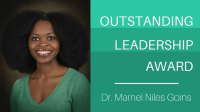 Dr. Marnel Niles Goins wins Outstanding Leadership Award