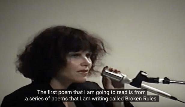 Screen shot of Suzanne Lummis reading her poem.