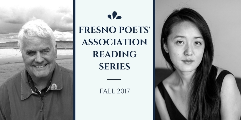 Promo photo for Fresno Poets' Association Reading Series featuring Glover Davis and Shawn Wen