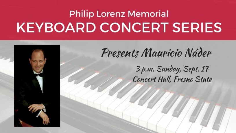 Image of keyboard for Mauricio Náder's performance at the Keyboard Concert Series