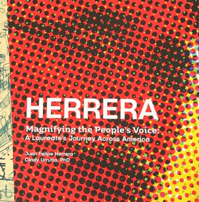 "Cover of ""Herrera -- Magnifying the People's Voice: A Laureate's Journey Across America"""