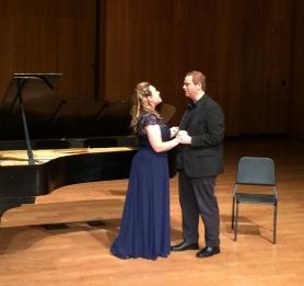 Soprano Maria Briggs and bariton Limuel Forgey