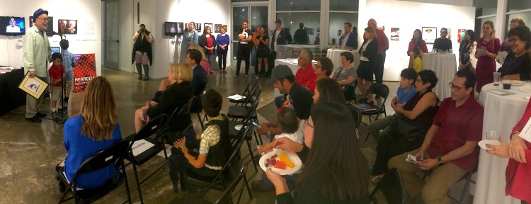 Reception for Juan Felipe Herrera's recent exhibition