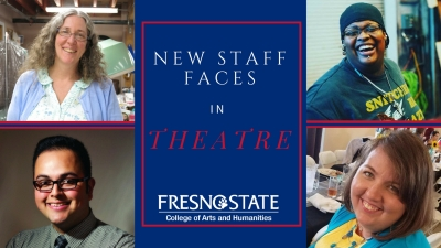 Photo of new Theatre Department staff members, interviewed in article