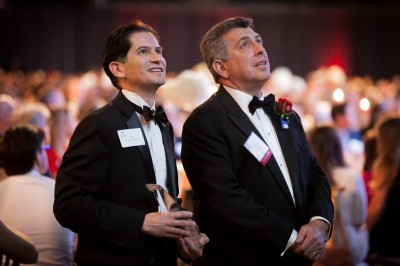 Dean Saúl Jiménez-Sandoval and 2017 Arts and Humanities Top Dog Warren R. Paboojian
