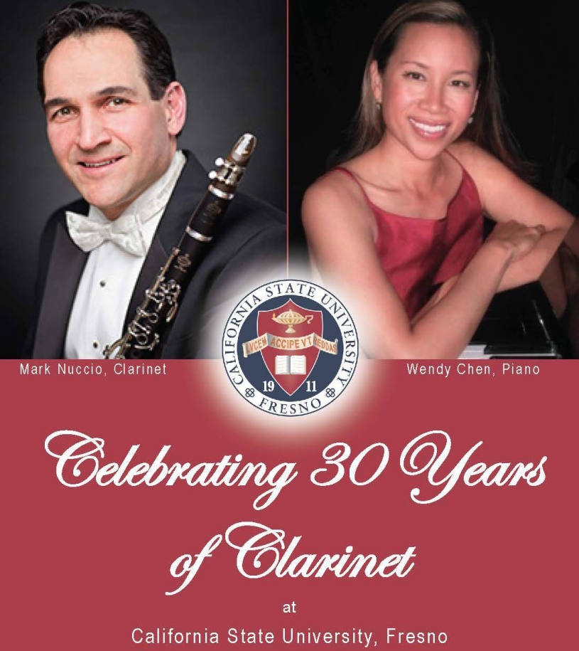 Celebrating 30 Years of Clarinet at Fresno State with Mark Nuccio and Wendy Chen