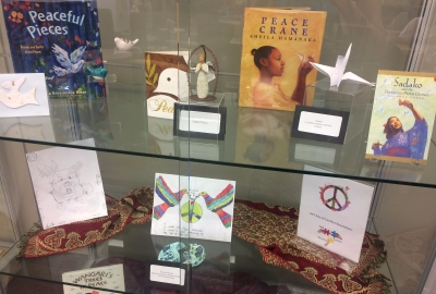 Peace exhibition in the Henry Madden Library