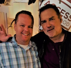 Josh Feemster, left, with actor Norm McDonald