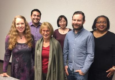 From left, Dr. Virginia Crisco, Dr. Rubén Casas, Dr. Magda Gilewicz, Dr. Bo Wang, Dr. Tom McNamara and Dr. Reva Sias
