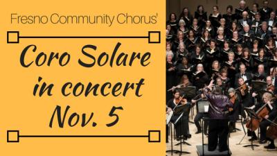 Coro Solare chorus in concert