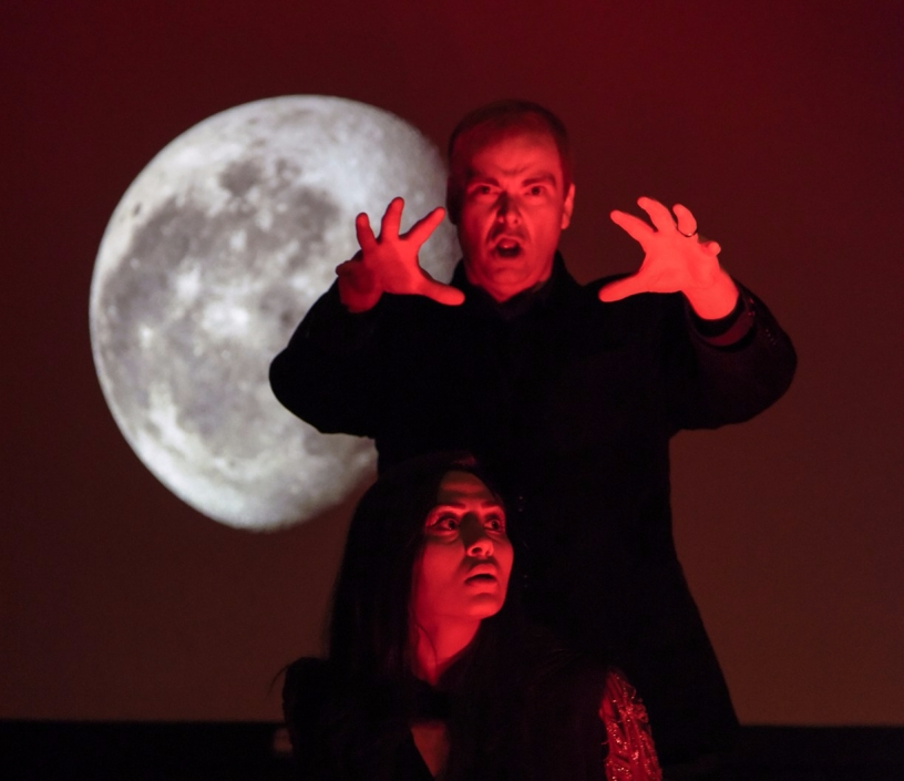 Lim Forgey and Tiffanie Trujillo in the fall opera production.