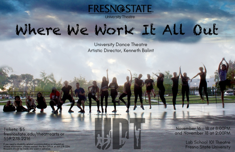"University Dance Theatre presents ""Where We Work it all Out"""