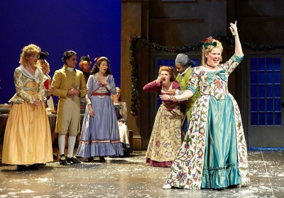 """Taylor Abels Rodriguez, far right, appears in the Actors Theatre of Louisville's annual production of """"A Christmas Carol"""""""