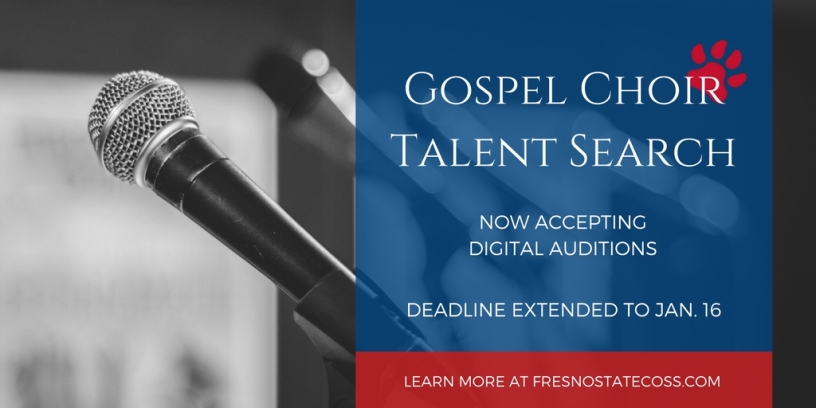 Flyer for Gospel Choir auditions