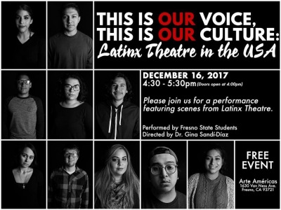 Flyer for Latinx Theatre event