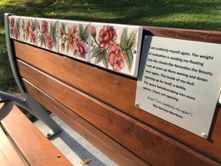Bench dedicated in memory of Mia Barraza Martinez