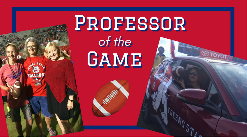 CAH Professors Drs. Kathy Adams and Tina Botts were named Professor of the Game