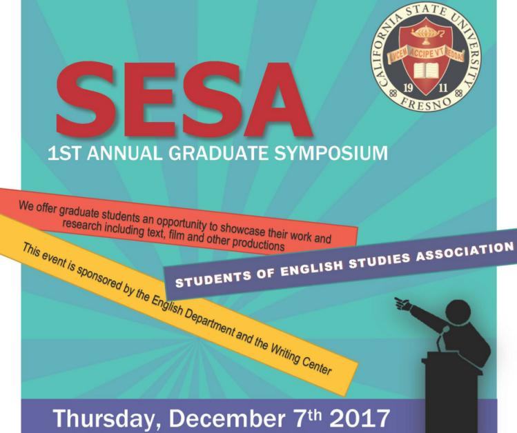 Poster for SESA graduate symposium
