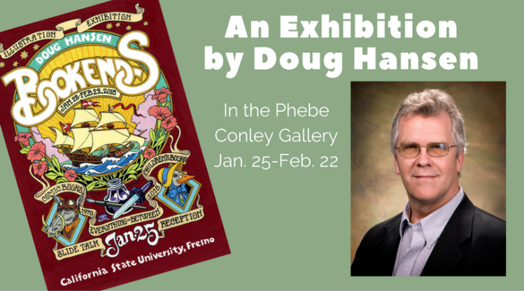 Bookends, an exhibition by illustrator Doug Hansen