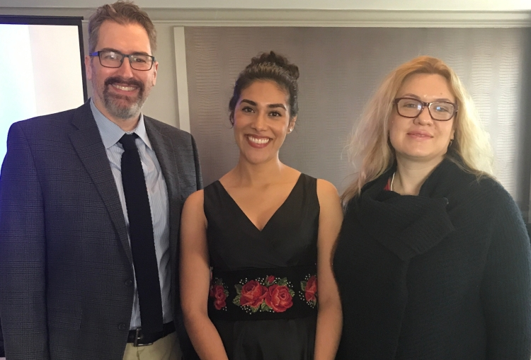 Anthony Radford, Alejandra Tejada and Maria Briggs at the National Opera Association conference in New Orleans in January 2018.