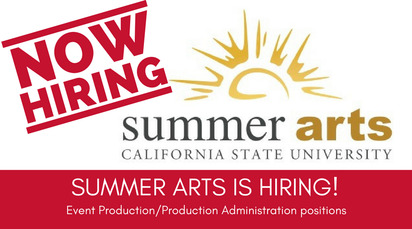 SUMMER ARTS IS HIRING