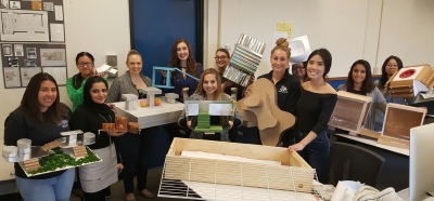 Art and design students show their work from a collaborative project done in conjunction with the Jordan College of Agricultural Sciences and Technology
