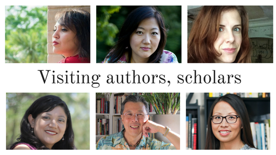 Several distinguished authors (pictured) will visit Fresno State English Department conferences this spring