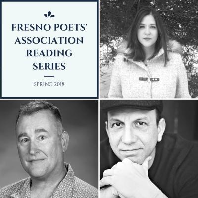 Lineup for the spring Fresno Poets' Association Reading Series: Rachel Rinehart, Tim Skeen and Steven Church
