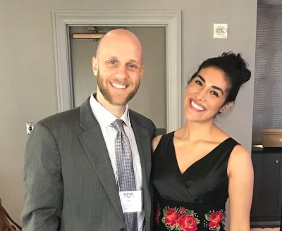 From left, Evan Mack and Alejandra Tejado at the recent National Opera Association conference in New Orleans.