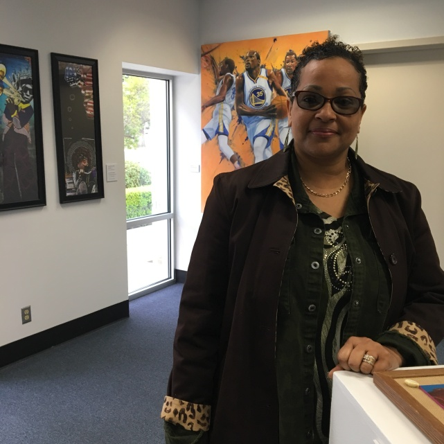 Vanessa Addison-Williams, a professor of graphic design in the Department of Art and Design, organized the exhibition for African American History Month