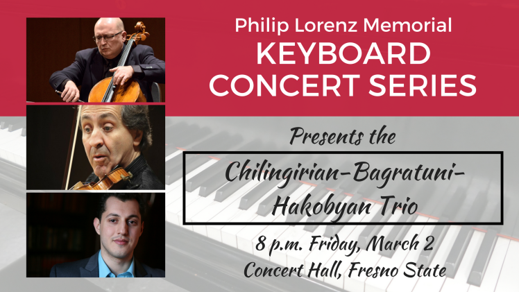 Keyboard Concert Series presents the Chilingirian-Bagratuni-Hakobyan Trio
