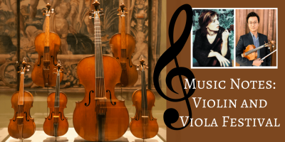 Picture of violins and violas to go with article about Violin and Viola Festival