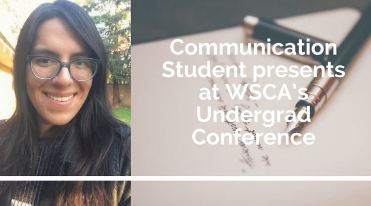 Adrian Carli, Communication Student presents at WSCA's Undergrad Conference