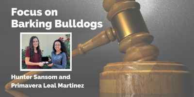 Barking Bulldogs debaters Hunter Sansom and Primavera Leal Martinez