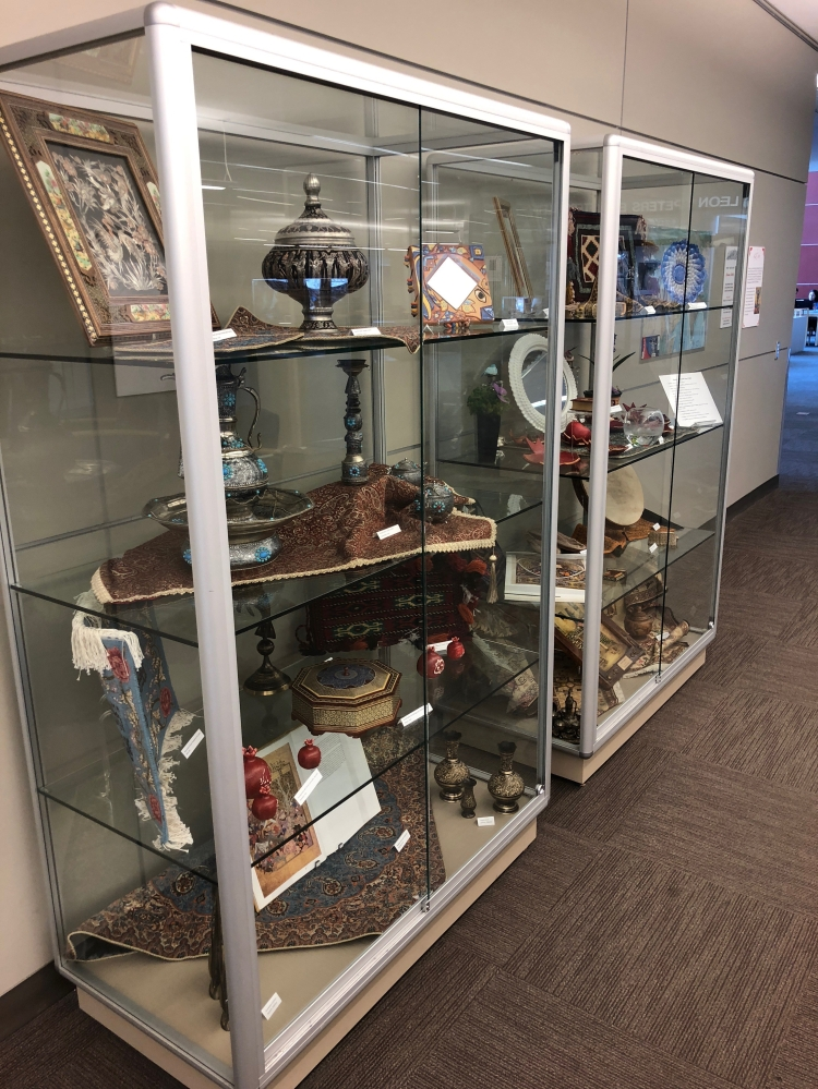 Persian artifacts displayed in the Nowruz Exhibit