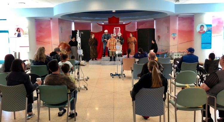 Fresno State's Theatre for Young Audiences performs for patients at Valley Children's