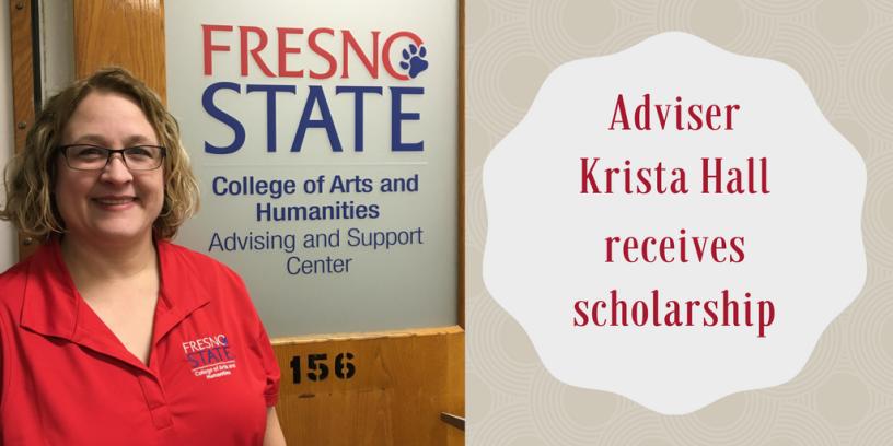 Adviser Krista Hall receives scholarship