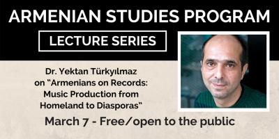 Dr. Dr. Yektan Türkyılmaz will give the next Armenian Studies lecture on March 7.