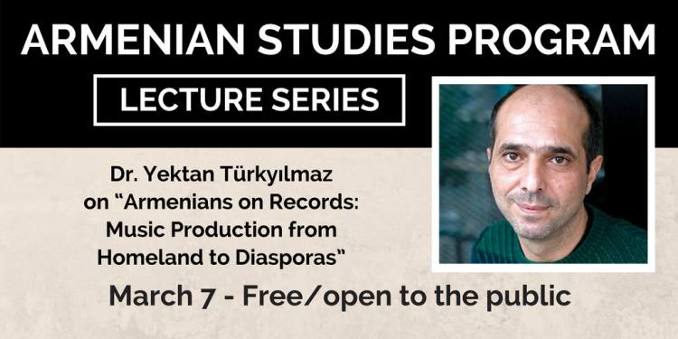 Dr. Dr. Yektan Türkyılmaz will give the next Armenian Studies lecture on March 7.
