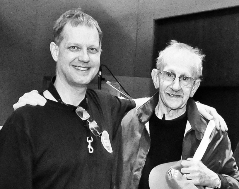 From left, Benjamin Boone and Philip Levine
