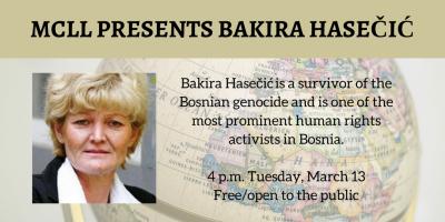 MCLL presents Bakira Hasečić