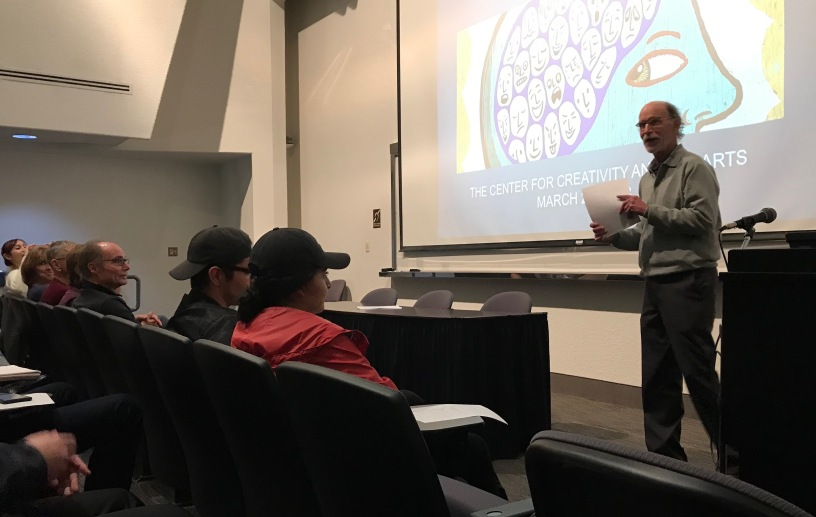 """Dr. Robert V. Levine gives a lecture on the """"Voices in our Head."""""""
