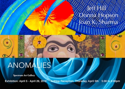 "Joan Sharma's art can be seen in the ""Anomalies"" exhibition at Spectrum Gallery"
